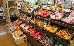 リンゴはアジア市場の開拓で先行している(台湾のスーパー)