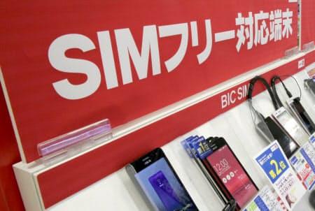 携帯大手がり割安なプランをそろえたことで、格安スマホ勢の顧客獲得が一服。SIMフリースマホの出荷台数は上期初の前年割れになった