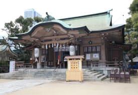 渡辺の番地に位置する坐摩神社(大阪市中央区)