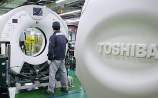 東芝メディカルシステムズのコンピューター断層撮影装置(CT)の製造工場(栃木県大田原市)
