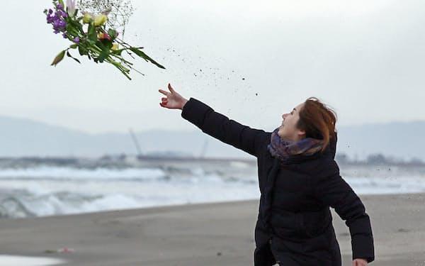 震災から5年の日、失われた多くの命を悼んだ(11日午後、仙台市若林区)