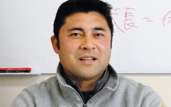 京大の西村監督(京都市内のクラブハウス)