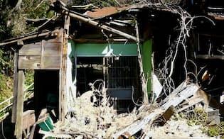 相続放棄された神奈川県横須賀市の空き家。昨年3月に解体された(同市提供)