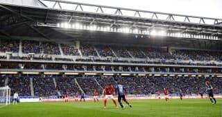 G大阪が今季から本拠地にする市立吹田スタジアムは建設費の多くを寄付金で賄った=共同