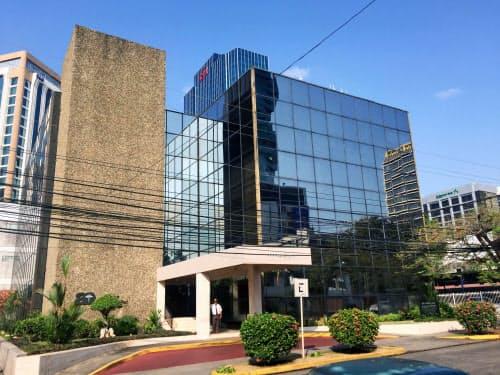 タックスヘイブンへの法人設立を支援してきたパナマの法律事務所「モサック・フォンセカ」が入るビル=オーストラリア放送協会提供・共同