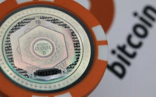 0.001ビットコインの価値を持つプラスチック製の「コイン」