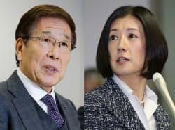大塚久美子社長(右)と大塚勝久前会長の法廷での対立は終結