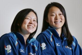 セーリング女子49erFX級の宮川恵子(左)、高野芹奈組