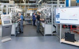 ボッシュのモデル拠点であるホンブルク工場では、I4.0とIICの双方の参照モデルを採用した=ボッシュ提供