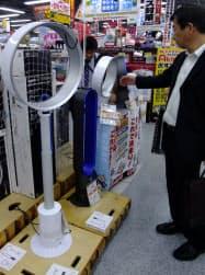 エアマルチプライアーは羽根がない独特のデザインも人気の理由だ(ヨドバシカメラマルチメディアAkiba)