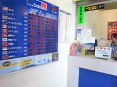 外貨両替の専門店では多様な通貨を扱っている(トラベレックスジャパンの新宿西口店)
