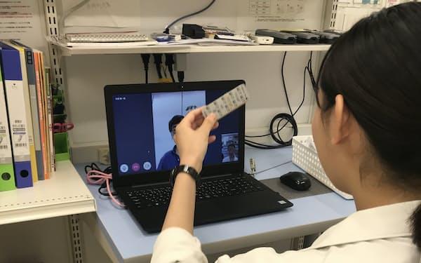 マイシンのシステムでは患者に服薬の注意点をビデオ通話で指導し、そのまま薬の配送までできる
