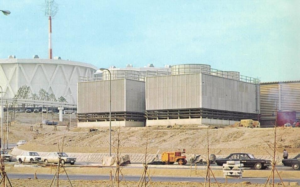 冷房を供給する3プラントのうち大阪ガスは「東プラント」を担当(「万国博と都市ガス」より抜粋)