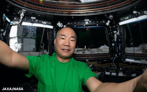 ISSに到着した野口聡一さん(JAXA/NASA)