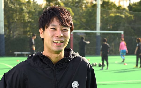 「テックボールと出合い、もう1度競技者としてトップを目指せるチャンスがうれしい」と語る。