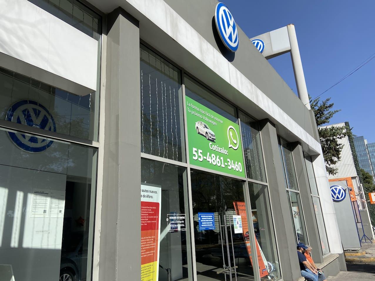 VWの販売店(メキシコシティ)