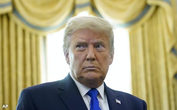 再選の展望が描けないトランプ米大統領は中東和平を外交政策の成果として残したい考えだ=AP