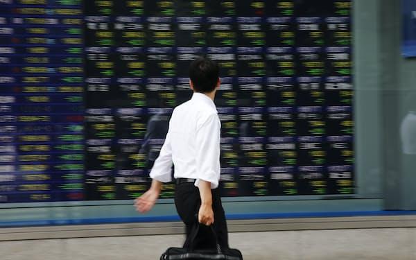 日本のバリュー株だけが買われない不可解な現象が起きている(東京・八重洲)