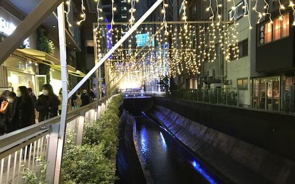 渋谷川が開渠になる場では「渋谷リバーストリート」として整備された