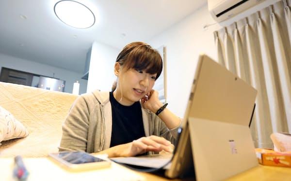 障害のある兄弟姉妹がいる人たちによるオンライン座談会を開く沖侑香里さん(静岡県富士市)