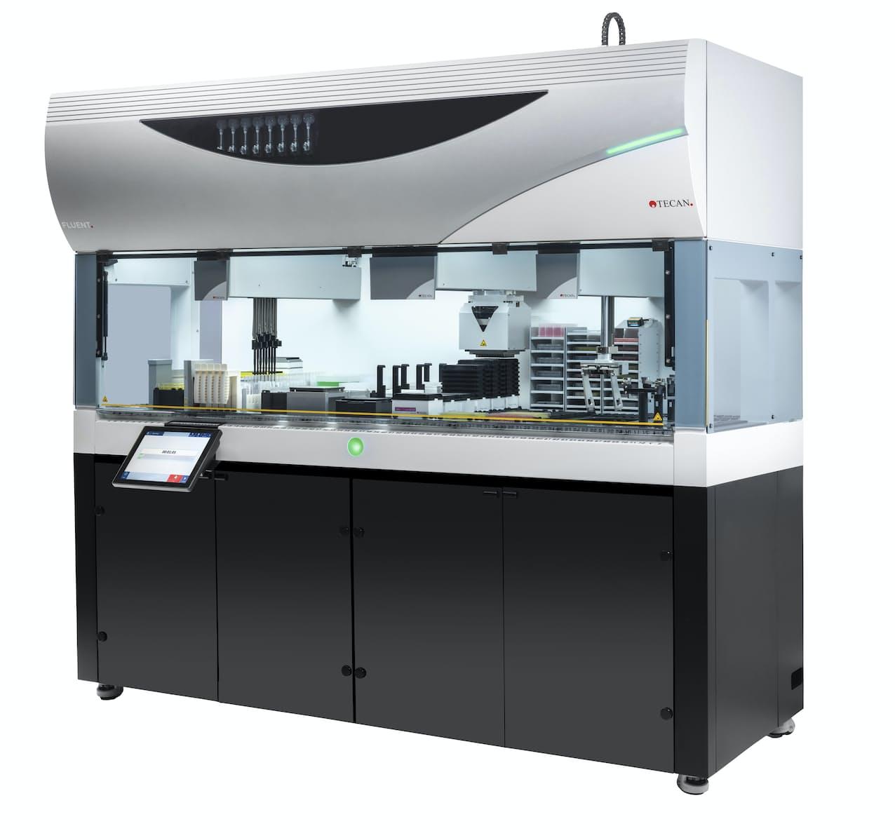 ペプチド医薬品の開発システムを搭載した装置(川崎市の装置メーカー、テカンジャパン提供)