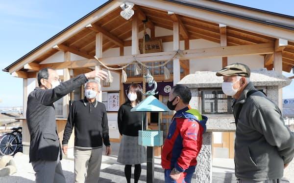 黒龍神社の盛り上げに携わる地元の人たち(名古屋市西区)