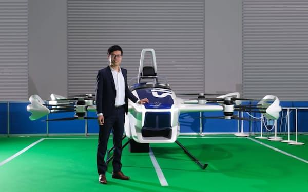 スカイドライブが開発する1人乗りの空飛ぶクルマと福沢代表