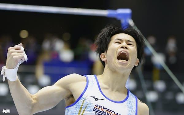 全日本選手権で個人総合初優勝を飾った萱和磨。準備も含めて模範となれる選手だ=共同