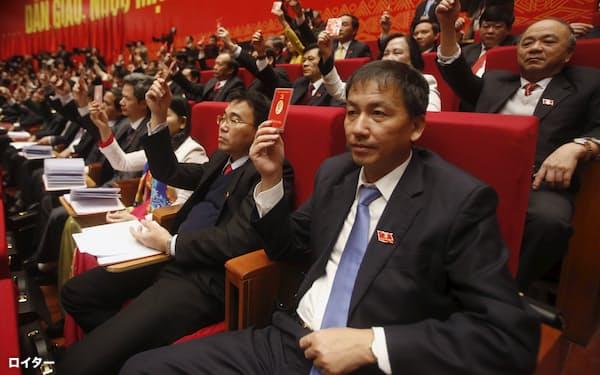 ベトナムの共産党大会は5年に1度開かれる(写真は2016年の党大会)=ロイター