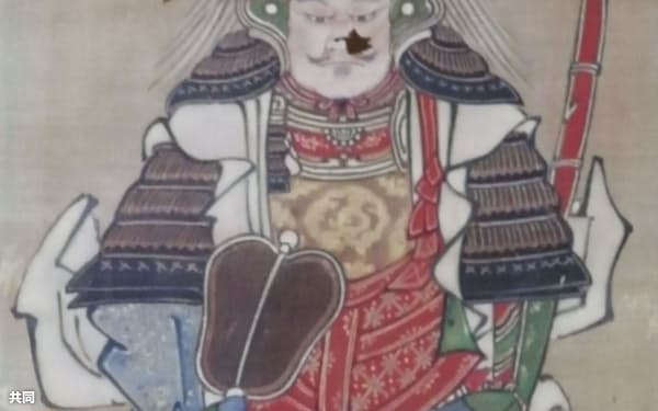 岐阜県瑞浪市の古刹、明白寺が所蔵する武田信玄の肖像画=美濃源氏フォーラム提供・共同