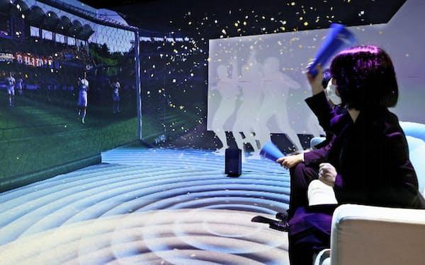 観戦アシストシステムは視聴者の体の動きを検知して、興奮度を分析する