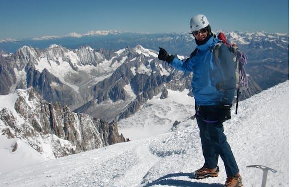 麓の街とモンブランの頂上を1日で往復した2010年当時の筆者