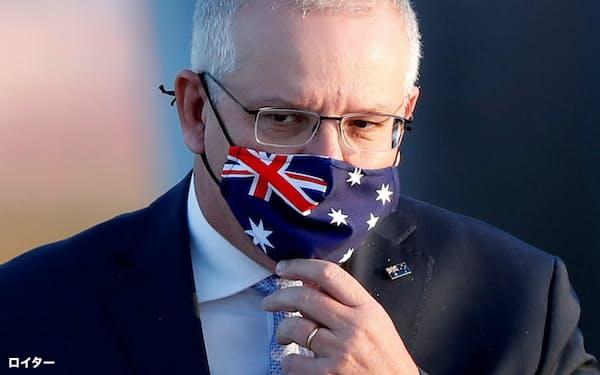 オーストラリアのモリソン首相は、中国外務省の報道官のツイッターに反発したが…=ロイター