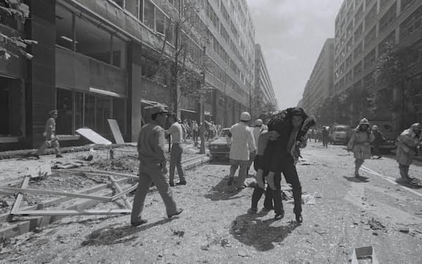 三菱重工ビルの爆破現場(1974年8月30日)