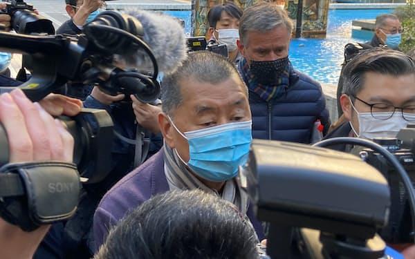 12月31日、香港の終審法院に入る黎智英氏