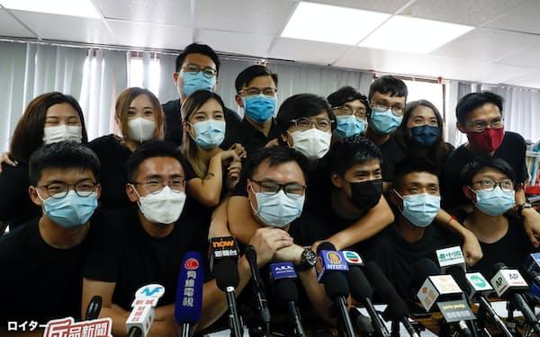 民主派の予備選では若手が支持を集めた(2020年7月、香港)=ロイター