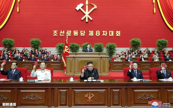 5日に開かれた第8回朝鮮労働党大会=朝鮮中央通信・朝鮮通信