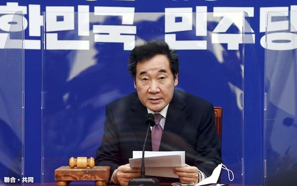 与党「共に民主党」の李洛淵代表は1日、韓国メディアとのインタビューで李明博・朴槿恵両氏の赦免を提言した=共同