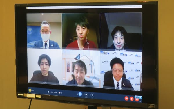 福岡市は、行政サービスのデジタル化に関する初打ち合わせをオンラインで開いた。
