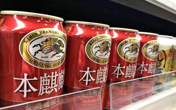 キリンビールは第三の「本麒麟」の販売が好調だった。