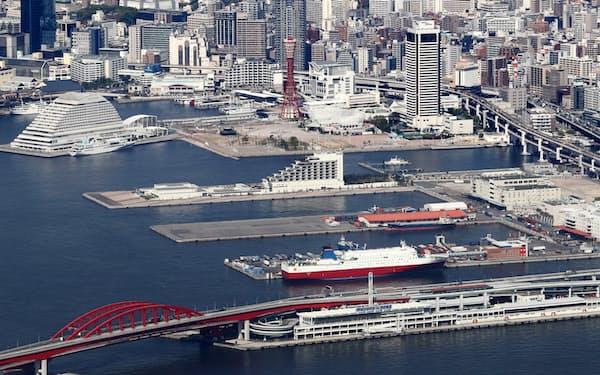 水上レストランやマリーナ施設の誘致を検討している(神戸市中央区)
