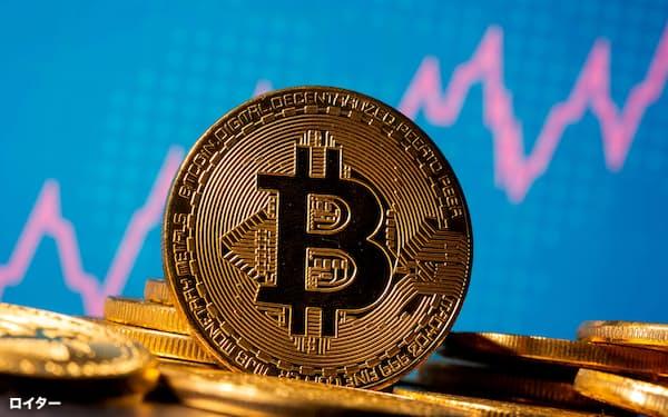 代表的な暗号資産のビットコインは乱高下が続いている=ロイター