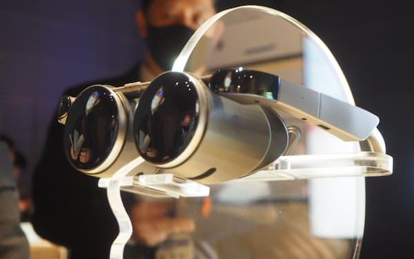パナソニックがデジタル技術見本市「CES」に出展しているVRグラス