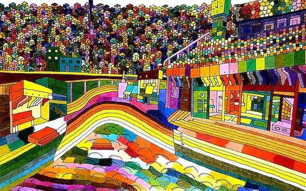 野口みずき賞が贈られた、長野県のYou-kiさんの作品「陸上競技場」