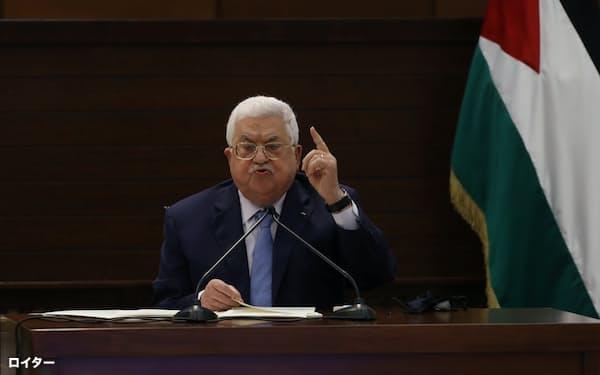 アッバス・パレスチナ自治政府議長は、イスラエルとの和平交渉再開に意欲を示す=ロイター