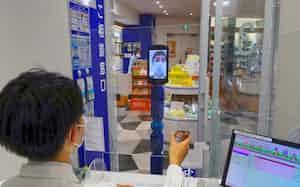 オンラインで服薬指導する実験をおこなったクオールの店舗(東京都目黒区)