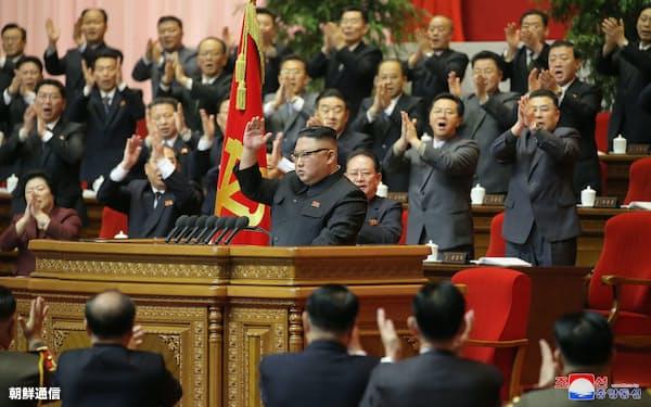 12日の朝鮮労働党大会に出席した金正恩総書記=朝鮮中央通信・朝鮮通信