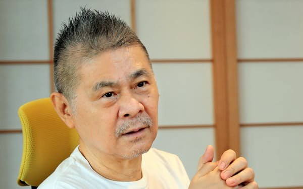 糸井重里社長は「株主をいい意味で裏切りたい」と成長へ意欲をみせていた(2020年9月撮影)