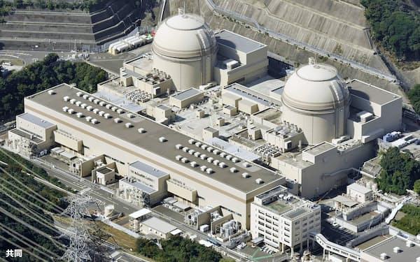 関西電力大飯原発の3号機(右)と4号機=福井県おおい町