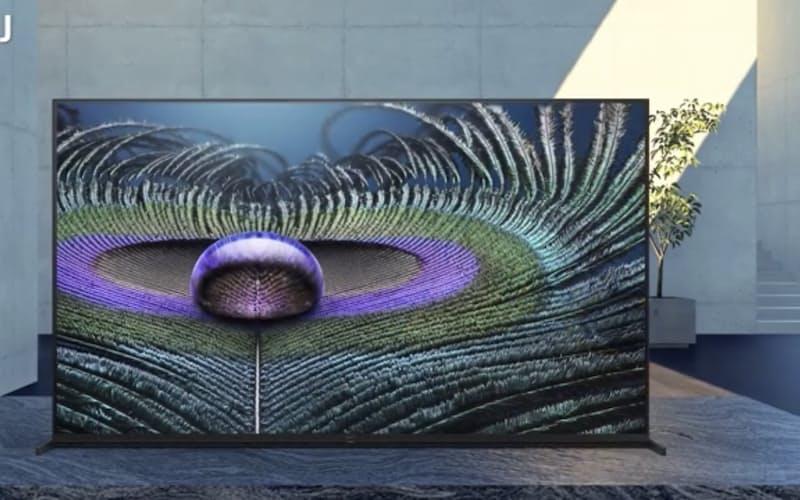 ソニーが人間の視覚の仕組みを応用して開発した新型テレビ(ソニースクエアのスクリーンショット)